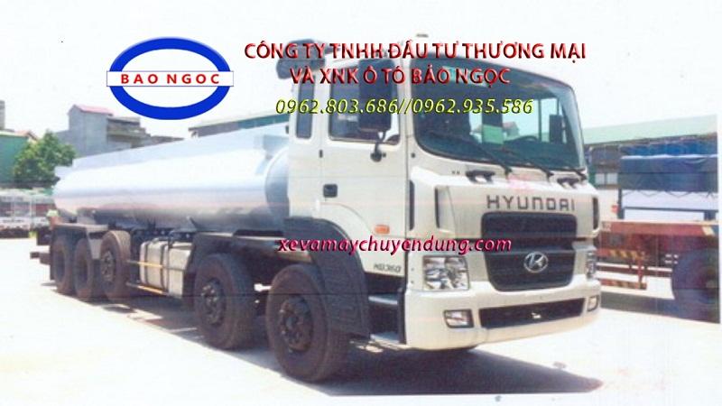 Xe bồn 5 chân hyundai hd360 chở hóa chất, phụ gia