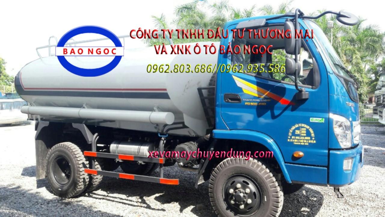 Xe nước 2 cầu 4 khối thaco FD500